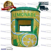 10x11.5ft Inflatable Lemonade Drink Concession Stand Tent Booth With Air Blower