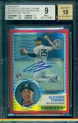 2018 Topps Chrome Gleyber Torres Rc Rookie Red Refractor Auto /5 Bgs 9 10 1983
