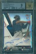 2018 Topps Finest Ronald Acuna Sp Refractor Auto /99 Rookie Rc Autograp Bgs 9 10