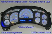 Bs 03-04 2003 04 Rebuilt Custom White Complete Replacement Blue Led Gas Cluster