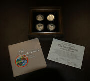 Norman Rockwell Four Seasons Sterling Silver Coin Set 4-1oz Hamilton Mint Framed
