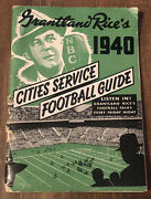 Vtg 1940 Cities Service Football Guide Booklet Grantland Rices Gas And Oil Station