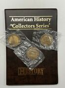 The History Channel Club American History Series Folder And 3 New Medallion Coins