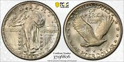 1929-s 25c Standing Liberty Quarter Pcgs Ms65 Cac - Gold Shield Holder