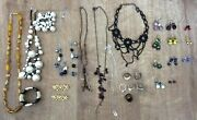 Job Lot Of 28 Pieces Of Mixed Costume Jewellery. Necklaces, Bracelets, Rings Etc