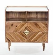 Abha Sideboard Acacia Wood And Marble Modern Industrial Contemporary