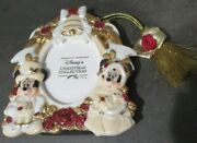 Disney - Christmas Collection Mickey And Minnie Victorian Photo Frame Ornament