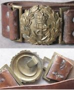 Antique British Royal Belt And Buckle / Navy Officer / Wwi