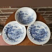 Countryside Wedgewood 3 Piece Set Blue And White China