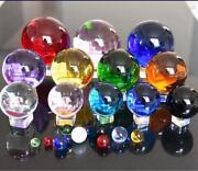 60-200mm Round Glass Crystal Ball Sphere Buyers Select The Size Magic Ball