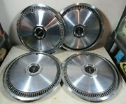Vintage 1970and039s Set Of 4 Lincoln Continental Mark Town Car Hubcaps 15 Oem Ford