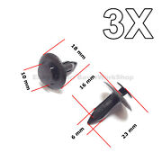 3x Rear Trunk Liner Push-type Retainer Trunk Top Ceiling Retainer For Mazda