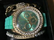 Beautiful Womens Watch And 2 Braclets Wth Extra Batterys