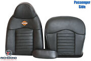 2000 Ford F-150 Harley -passenger Side Complete Leather Seat Covers Black/orange