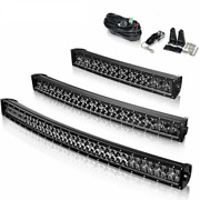 Curved Led Light Bar Tractor Off-road Combo Spot Beam Work Lighting Accessories