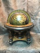Vintage Old World Desk Top Globe. With Zodiac Signs. Made In Italy 1960s