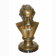 Lf43540c Signature Statuary Large Bronze Abraham Lincoln Bust A3086ac New