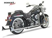 Bassani Xhaust- 33in.chrome Fishtail Mufflers With Baffles For And03907-and03917 Softails