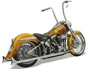 Bassani Xhaust 30 Chrome 1-7/8 Fishtails No Baffles For And03907-and03917 Softails