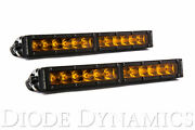 Diode Dynamics 12in. Led Light Bar Single Row Straight Amber Driving Pair