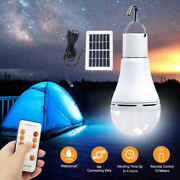 Usb Rechargeable Solar Light Bulb Portable Hang Up Led Lamp Hooking Chicken Coop