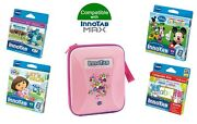 Vtech Innotab Max Game And Carry Case Bundle Pink 4-6 Years 4 Games + 1 Case