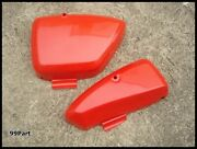 Nos Honda Sports Cub C110 Ca110 C111 C115 Side Cover Red Lhandrh A Pair Japan