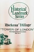 Dept 56 Dickins Village .... The Tower Of London Set Of 5 Mint