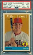 2018 Topps Transcendent Mike Trout Through The Years Vip Party /83 1958 Psa 8.5