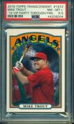 2018 Topps Transcendent Mike Trout Through The Years Vip Party /83 1972 Psa 8.5