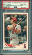 2018 Topps Transcendent Mike Trout Through The Years Vip Party /83 2013 Psa 8.5