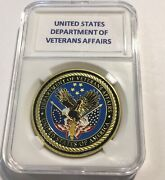 United States Department Of Veterans Affairs Challenge Coin 40mm With Case G30