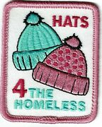 Girl Boy Cub Scout Girl Guide Fun Patch - Hats For The Homeless
