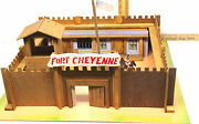 1950s Wooden Play Toy Set Fort Cheyenne Western Usa Cowboys Indians Elf Toys