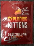 Autographed Exploding Kittens Pin Pack Pax West 2016 Sealed Unopened - Series 1
