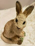 Vintage Stone Critters Bunny Snowshoe Hare Sc 386