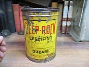 Deep Rock 0il Corp Grease Early 1900s Original Gas 5 Lb Can Tin Filling Station