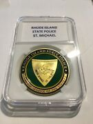 Rhode Island State Police Challenge Coin 40mm With Case P36