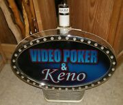 Video Poker Keno Lighted Slot Topper Igt Nov 04 Collectible Decor Or Parts Rehab