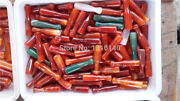 10pc Brazil Pure Red Manual Agate Cigarette Pipes Holder Natural Jade Pipe Holde