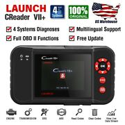 Launch Scanner Vii+ Crp123 Automotive Obd2 Ii Diagnostic Tool Abs Srs Engine A/t