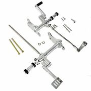 Us Silver Forward Control Linkage With Foot Pegs For Harley 91-03 Sportster 883