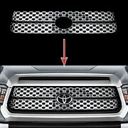 Fits 2018-2020 Toyota Tundra Sr Sr5 Chrome Snap On Grille Overlay Insert Covers