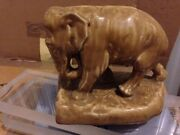 Pair Of Large Rookwood Art Pottery Elephant Bookends, Model 2444c