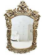 Beautiful Antique Gilded Carved Mirror French Renaissance Wall Mirror Unique