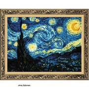Riolis Counted Cross Stitch Kit Starry Night After Van Gogh`s Painting Diy