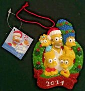 The Simpsons Family Christmas Tree Wreath Ornament 2014 - By Department 56