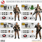 Mezco One12 Ghostbusters Deluze 4 Pack Action Figures Mint New In Box