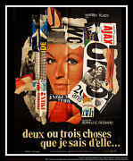 Two Or Three Things I Know 4x6 Ft French Grande Original Movie Poster 1967