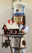 """Steinbach Gingerbread Baker And Smoker Nutcracker Es1691, 19""""h Rare Find Germany"""